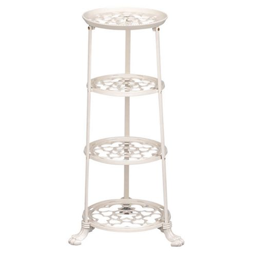 Cast Iron 4 tier Saucepan Stand - Cream