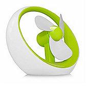 Cennett USB Pop Fan - White/Green