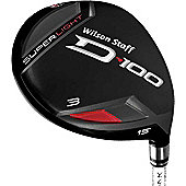 Wilson Staff Mens D-100 Fairway Woods Flex S Loft 3 Wood (15 Deg.)