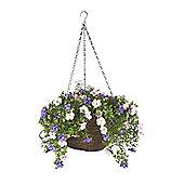 Smart Garden 30cm Artificial Petunia Hanging Basket