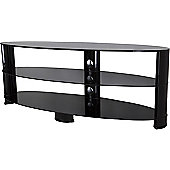 AVF Oval 1400 High Gloss TV Stand For TVs up to 65 inch - Black