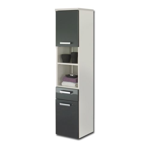 Buy posseik marano 30 x 30cm tall bathroom cabinet grey for Bathroom cabinets tesco