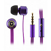 KitSound Ribbons Earphones With Microphone Purple