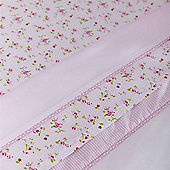 Izziwotnot Time to Play Cot Bed Flat & Fitted Sheet Pack (Baby Fleur)