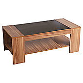 Home Essence Shearwater Coffee Table in Walnut Veneer and Black Gloss