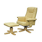 Alphason Drake Recliner - Cream