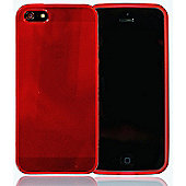 Apple iPhone 5 - gSHELL Tough All-Body Gel Case - Smoke Red