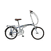 "20"" Wheel Viking Park Lane 7 Speed Alloy Folder, Silver"