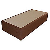 Sweet Dreams Amber Single Spring Edge Divan - Dali Plain Brown