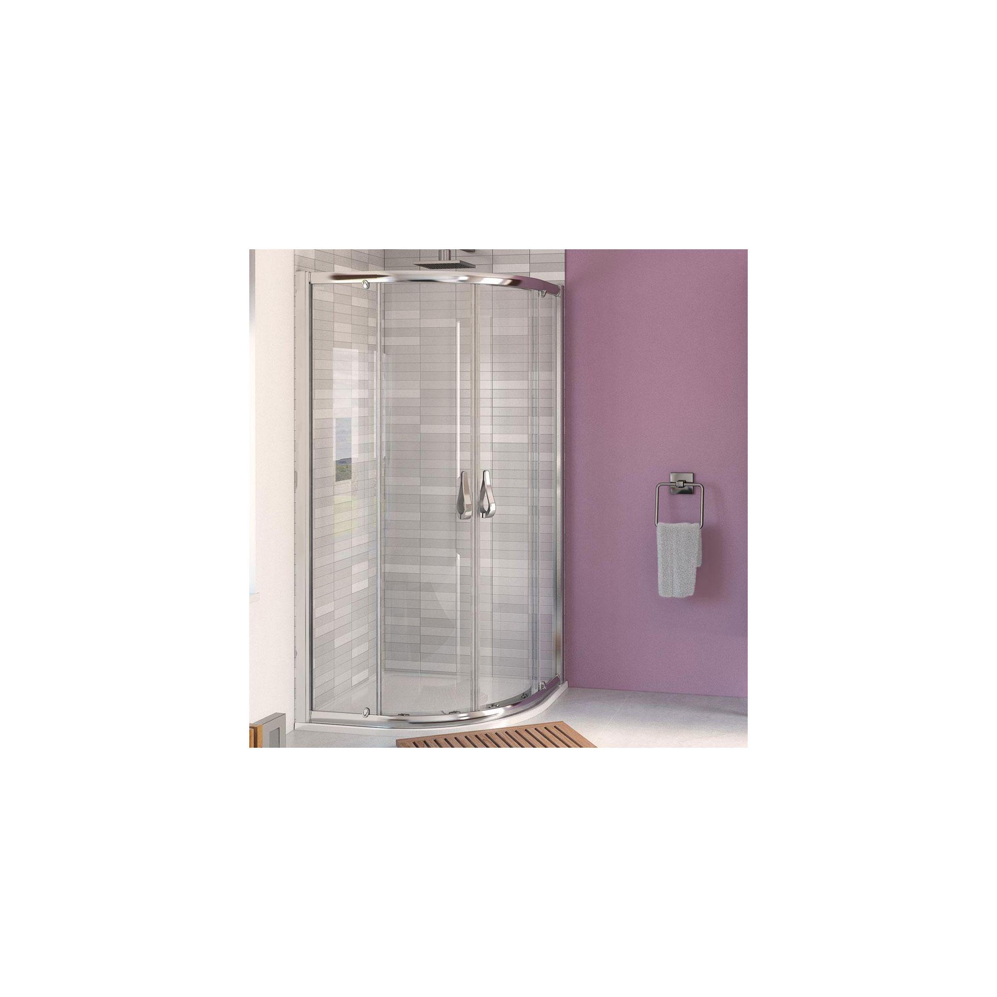 Aqualux AQUA6 Quadrant Shower Door, 760mm x 760mm, Polished Silver Frame, 6mm Glass at Tesco Direct