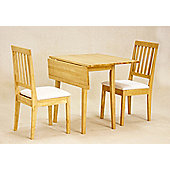 Value by Wayfair Avens Extendable Dining Table and 2 Chairs - Oak