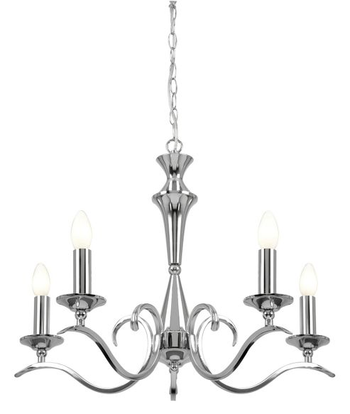 Endon Lighting Five Light Chandelier - Polished Chrome
