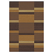 Mastercraft Rugs Mehari Orange Brown Block Rug - 133cm x 195cm