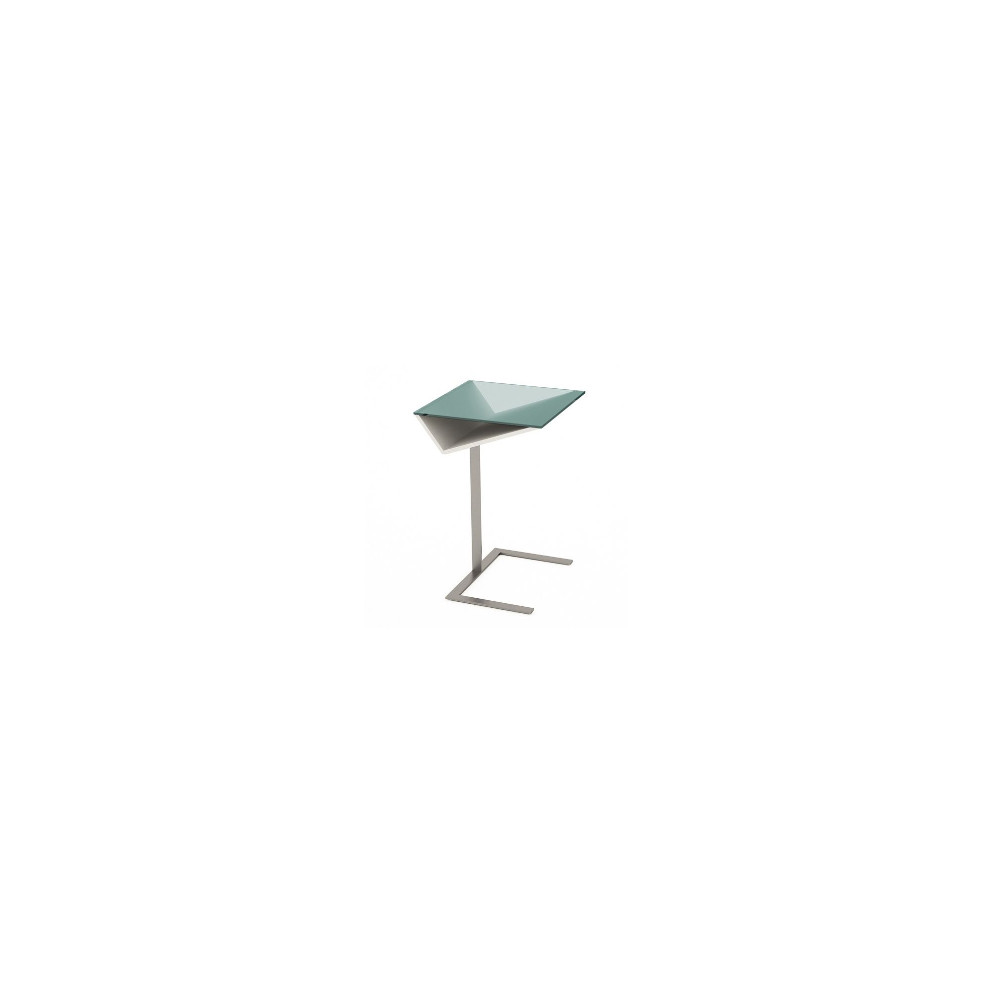 Gillmore Space Gerrit Side Table - White Lacquer (Matt) at Tesco Direct