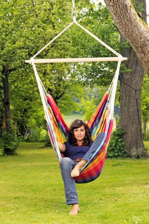 Amazonas Brasil Hanging Chair in Rainbow