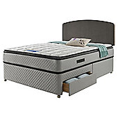 Sealy Pillowtop King Size 4 Drawer Divan Charcoal