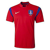 2014-15 South Korea Home World Cup Football Shirt - Red