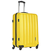 Luggage Zone Hard 4-Wheel Medium Gloss Yellow Suitcase