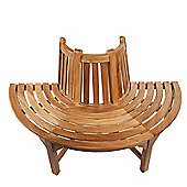 Half Round Teak Tree Seat/Bench 150cm