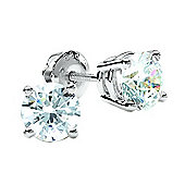 9ct White Gold .50ct Single Stone Diamond Earrings SKE2534-50