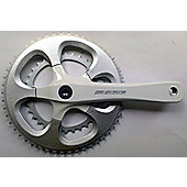 SR Suntour CW13 SP-D54 Compact Chainset: 170mm White.