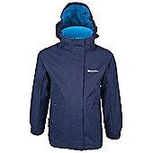 Fizz Kids Waterproof Hooded Multiple Pockets Rain Coat Jacket - Navy