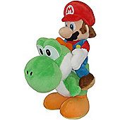"Official Nintendo Super Mario Plush Series Stuffed Toy - 8"" Mario Riding Yoshi"