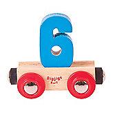 Bigjigs Rail Rail Name Number 6 (Blue)