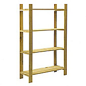 Home Essence Natural Slatted Unit - 4 Shelves