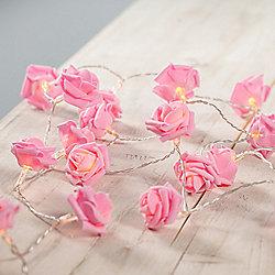 30 LED Pink Rose Flower Indoor Fairy Lights