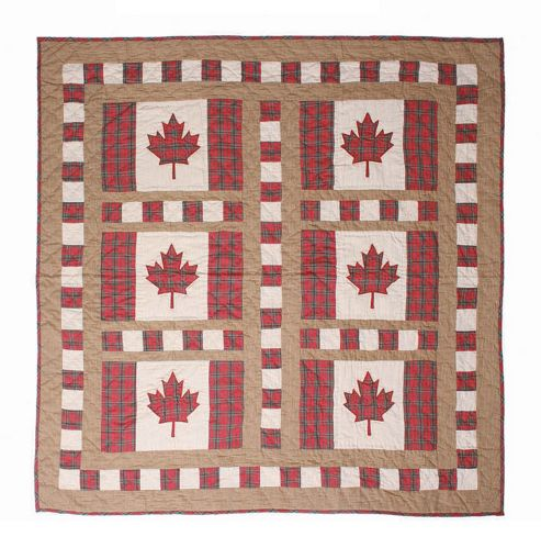 Woven Magic Canadian Flag Crib Throw