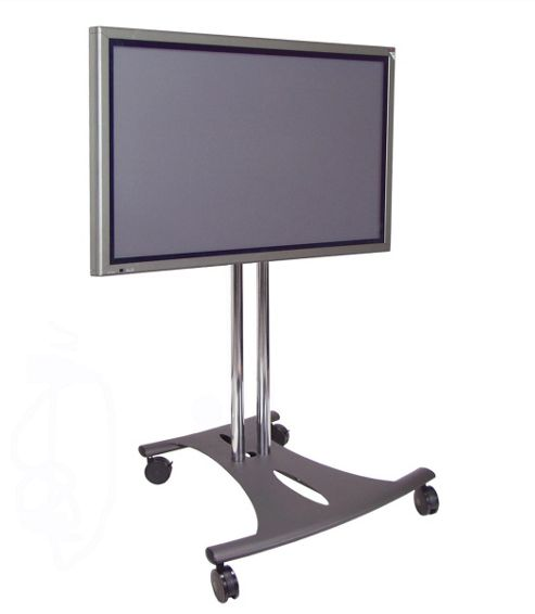 Premier Mounts Tilting TV Floor Stand with 40 inch Poles and Castors