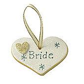 Bride Gold Sparkle Heart Wedding Keepsake