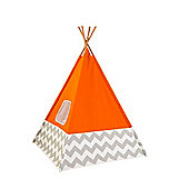 PlayKraft Orange/Grey Chevron TeePee