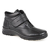 Pavers Wide-Fit Water Resistant Leather Ankle Boot - Black