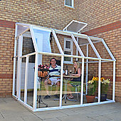 Rion 6' x 8' Clear-glazed White Resin Sun Room