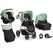 Hauck Priya Trio with Buggy Lights Travel System - Caviar/Pistachio