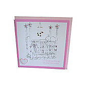 Christening Crib Card - Girl