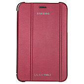 "Samsung Galaxy Tab 2 Book Cover Case with Stand 7""- Red"