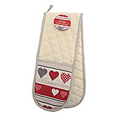 Country Club Double Oven Glove, Hearts