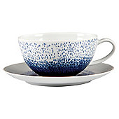 Blue Rain Porcelain Cup and Saucer