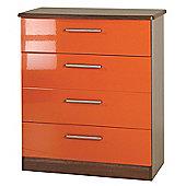 Welcome Furniture Knightsbridge 4 Drawer Chest - Oak - Ebony