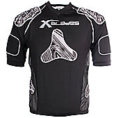 X Blades Wild Thing Junior Rugby Body Protection Silver/Black - Grey