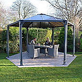 Palram Monaco 4.5 M D Dark Grey Hexagon Gazebo
