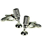 Microphone DJ Themed Novelty Cufflinks