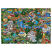 Games Happy Campers 1000 Pieces Jigsaw Puzzle