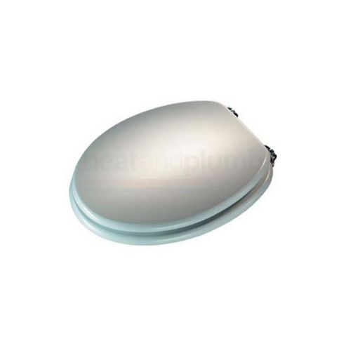 Croydex Wl522241 Toilet Seat Mdf White Chrome