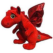 TY Beanie Babies Plush - Y Ddraig Goch Welsh Dragon Buddy 23cm