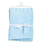 BabyDan Double Fleece Baby Blanket - Baby Blue