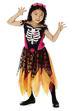 F&F Halloween Day Of The Dead Dress-Up Costume - Multi